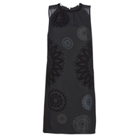 Clothing Women Short Dresses Desigual ZAGREB Black