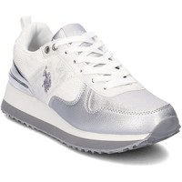 Shoes Women Low top trainers U.S Polo Assn. Frida White-Silver