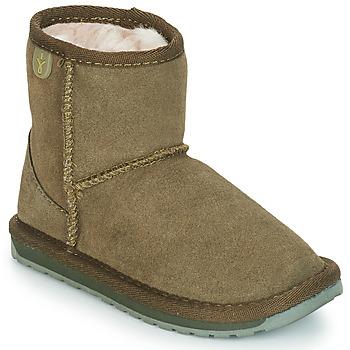 Shoes Girl Mid boots EMU WALLABY MINI Kaki