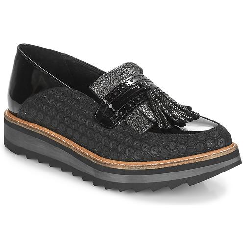 Shoes Women Loafers Regard RINOVI V2 COMET NERO Black