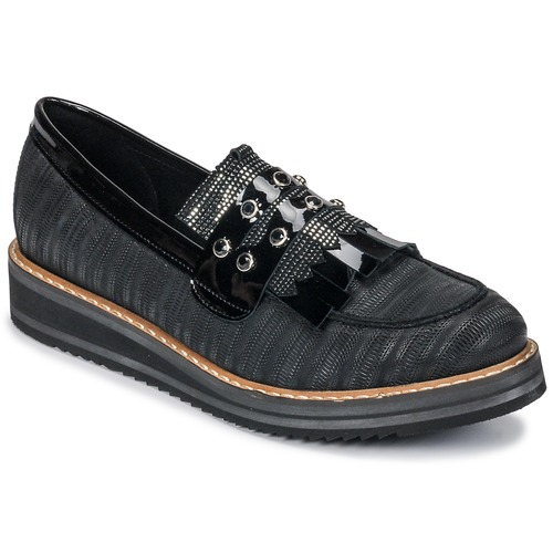 Shoes Women Loafers Regard RUVOLO V1 ZIP NERO Black