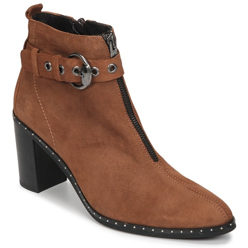 Shoes Women Ankle boots Philippe Morvan AXEL V4 CHEV VEL Camel