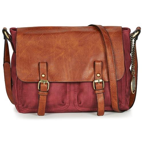 Bags Women Shoulder bags Moony Mood TINA Bordeaux / Cognac
