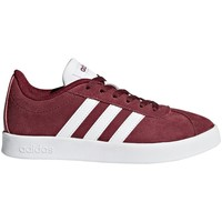 Shoes Children Low top trainers adidas Originals VL Court 20 K Burgundy