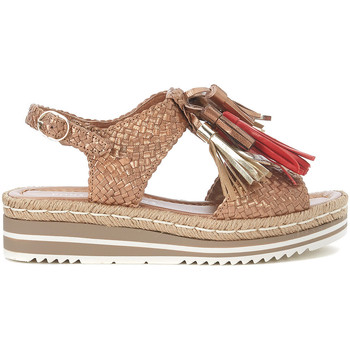 Shoes Women Sandals Pon´s Quintana copper woven leather sandal with tassels Bronze