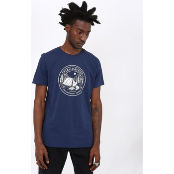 Clothing Men T-shirts & Polo shirts Fjallraven Lagerplats T-Shirt Navy Blue