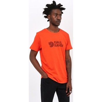 Clothing Men T-shirts & Polo shirts Fjallraven Logo T-Shirt Orange Orange