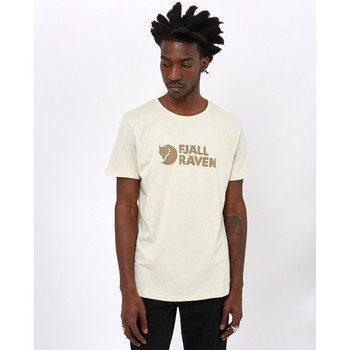 Clothing Men T-shirts & Polo shirts Fjallraven Logo T-Shirt Chalk White Beige