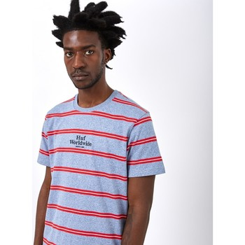 Clothing Men T-shirts & Polo shirts Huf Golden Gate Stripe Shirt Blue Blue