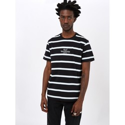 Clothing Men T-shirts & Polo shirts Huf Golden Gate Stripe Shirt Black Black