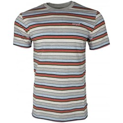 Clothing Men short-sleeved t-shirts Huf Off Shore Stripe Tee blue
