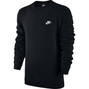 Clothing Men sweaters Nike Sportswear Crew Fleece Club Black