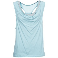 Clothing Women Tops / Sleeveless T-shirts Bench SKINNIE Blue