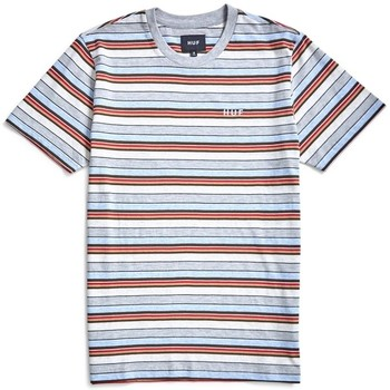 Clothing Men short-sleeved t-shirts Huf Off Shore Stripe T-Shirt Blue Blue