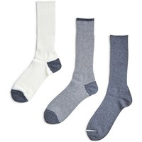 Shoe accessories Men Socks Anonymous Ism Triple Pack Sock Grey Grey