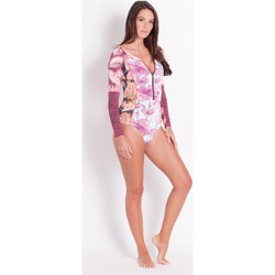 Clothing Women Swimsuits Maaji , Swimsuit, Long sleeves, Purple- Amaranth Mulatta Litchi
