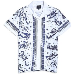 Clothing Men short-sleeved shirts Huf Zodiac Short Sleeve Shirt White White