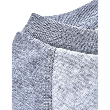 Clothing Men jumpers The Idle Man Organic Contrast Sleeve Raglan Sweatshirt Grey Grey