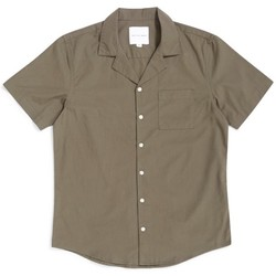 Clothing Men short-sleeved shirts The Idle Man Revere Collar Shirt Khaki Green