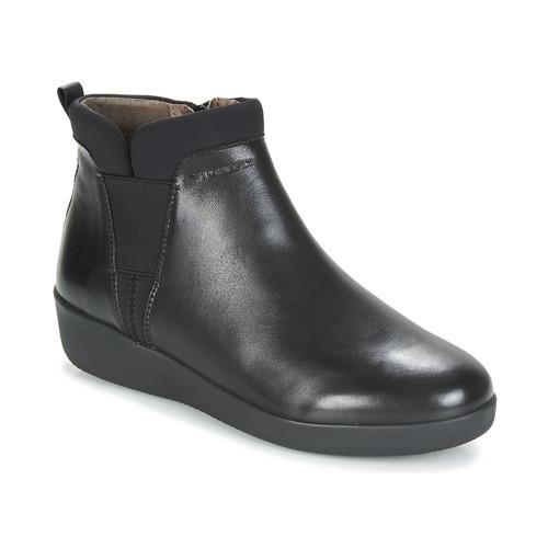Shoes Women Mid boots Stonefly PASEO IV 5 NAPPA Black