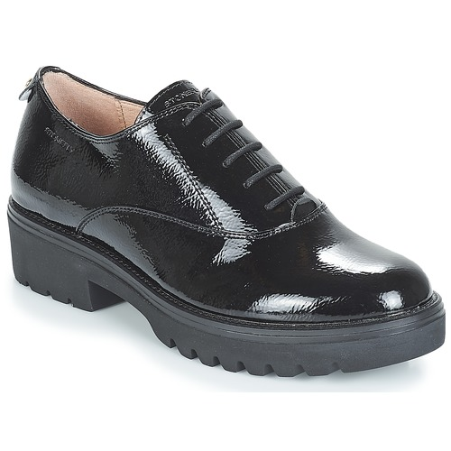 Shoes Women Derby Shoes Stonefly PERRY II 1 PATENT Black
