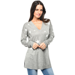 Clothing Women jumpers Isabella Oliver Pullover Annora Maternity Intarsia Knit Heather grey / White F Heather grey