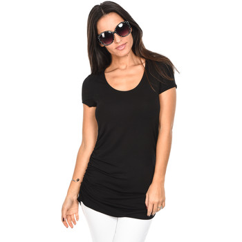 Clothing Women short-sleeved t-shirts Isabella Oliver T-Shirt The Maternity Cap Scoop Top Black F Black