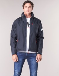 Clothing Men Jackets Helly Hansen CREW HOODED MIDLAYER JACKET Marine