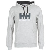 Clothing Men sweaters Helly Hansen HH LOGO HOODIE Grey