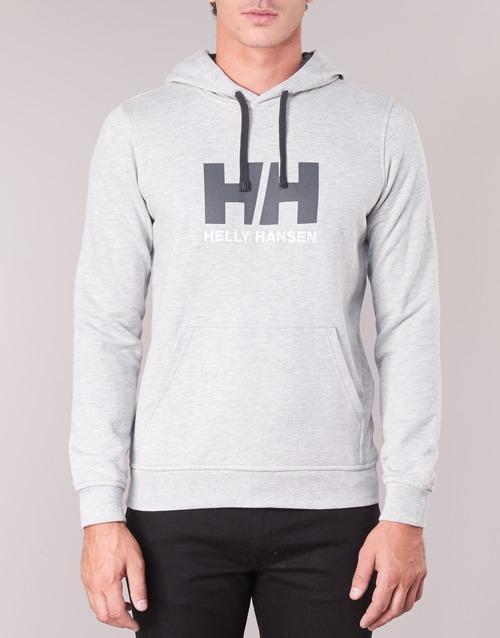 Grey LOGO HOODIE HH Helly Hansen xfZIX