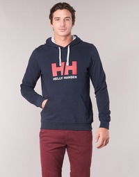 Clothing Men Sweaters Helly Hansen HH LOGO HOODIE Marine