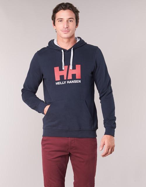 Clothing Men sweaters Helly Hansen HH LOGO HOODIE Marine