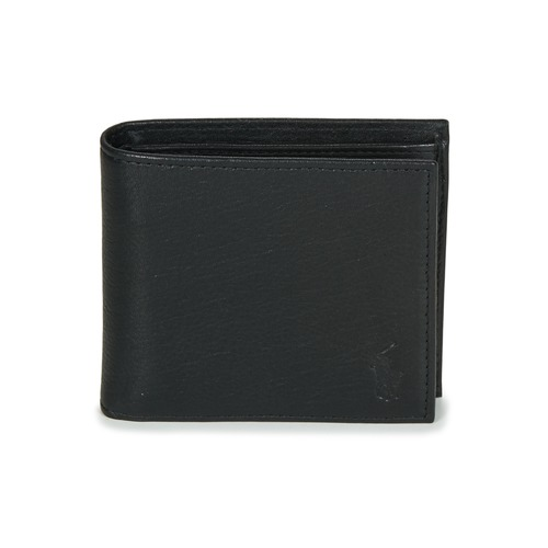 Bags Men Wallets Polo Ralph Lauren EU BILL W/ C-WALLET-SMOOTH LEATHER Black