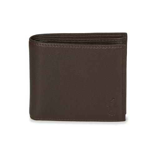 Bags Men Wallets Polo Ralph Lauren EU BILL W/ C-WALLET-SMOOTH LEATHER Brown
