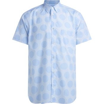 Clothing Men short-sleeved shirts Comme Des Garcons Comme des Garçons white and blue polka dots shirt Light blue