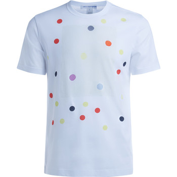 Clothing Men short-sleeved t-shirts Comme Des Garcons Comme des Garçons white and polka dots T-Shirt White