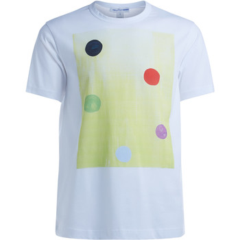 Clothing Men short-sleeved t-shirts Comme Des Garcons Comme des Garçons white T-Shirt with polka dot graphics White