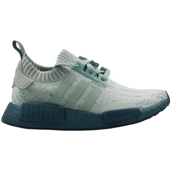 Shoes Women Low top trainers adidas Originals Nmd R1 Primeknit Women Green-Grey