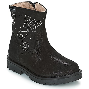 Shoes Girl Mid boots Garvalin COSMOPOLITAN SERRAJE Black / Silver