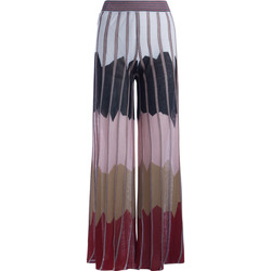 Clothing Women Wide leg / Harem trousers Jucca Ares lurex palazzo pants with colored bands Multicolour