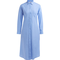 Clothing Women Dresses Jucca white and light blue striped shirt dress with belt Light blue