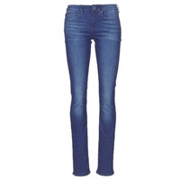 Clothing Women Straight jeans G-Star Raw MIDGE SADDLE MID STRAIGHT Blue / Medium / Aged