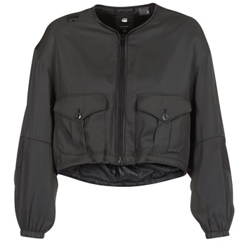 Clothing Women Jackets G-Star Raw RACKAM OS CROPPED BOMBER Black