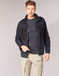 Clothing Men Jackets G-Star Raw TYPE C UTILITY PM OVERSHIRT Black