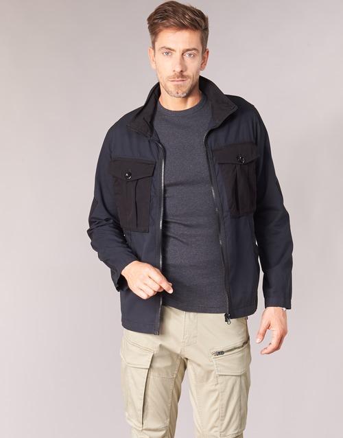 Clothing Men Jackets G-Star Raw TYPE C UTILITY PM OVERSHIRT Black
