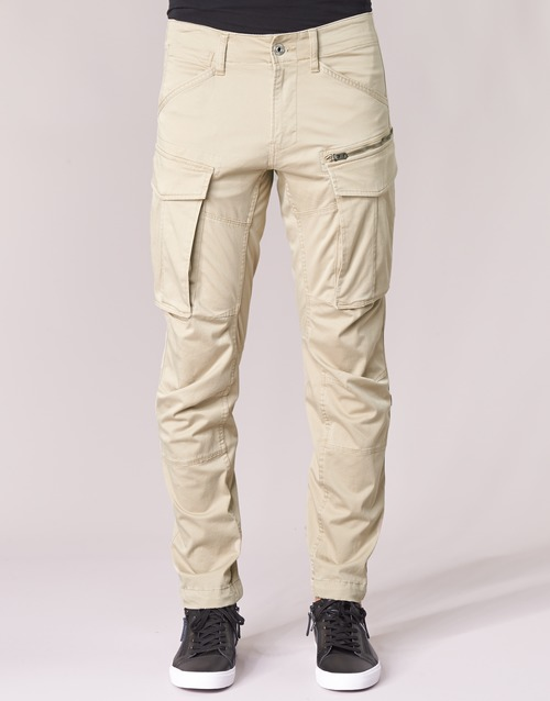 Beige 3d star G Rovic Raw Tapered Straight Zip B0qa7