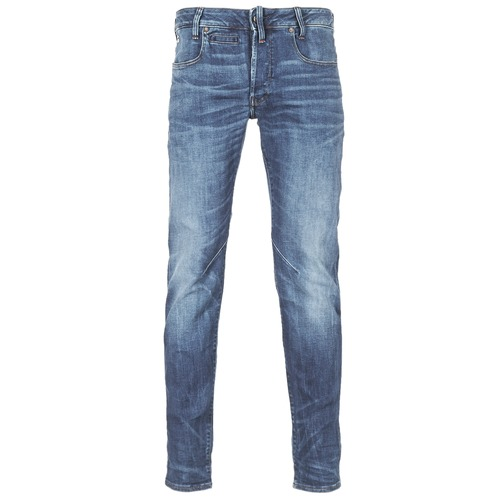 Clothing Men slim jeans G-Star Raw D-STAQ 5-PKT SLIM Blue / Medium / Indigo / Aged