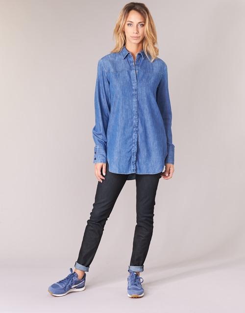 Clothing Women Skinny jeans G-Star Raw LYNN MID SKINNY Blue / Dark / Aged