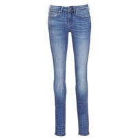 Clothing Women Straight jeans G-Star Raw MIDGE MID STRAIGHT Blue / Medium / Indigo / Aged