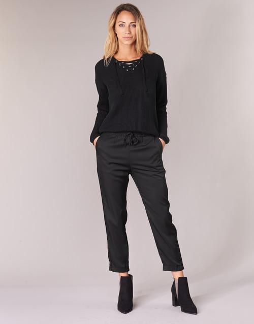 Clothing Women Wide leg / Harem trousers G-Star Raw BRONSON JOG Black